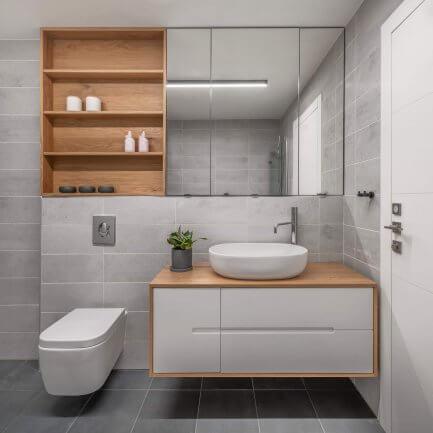 ארונות אמבטיה תלויים בנגרות אישית