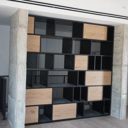 ספריית עץ מעוצבות