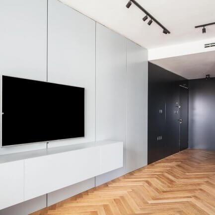יחידות קיר לסלון בצבע לבן